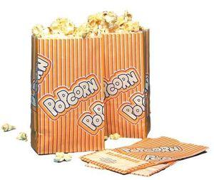 Popcorn Warmhaltetüte 50 g 1 Liter 10,5 x 6 x 17 cm, 2-lagig weiß/gelb/rot (100)