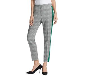 MARC CAIN COLLECTIONS Anzug-Hose stilvolle Damen Business-Hose mit Allover-Muster Bunt, Größe:38