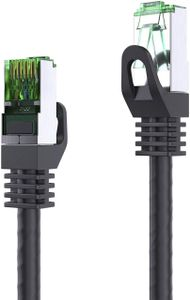 LAN Kabel 20m Cat.6 Patchkabel CAT.6 (FTP) Netzwerkkabel Ethernetkabel Cat5 RJ45 Stecker schwarz (1x)