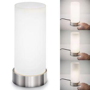 Tischleuchte Nachttischleuchte Schlafzimmer Berührungssensor dimmbar Touchfunktion max. 25W E14 Leuchtmittel IP20 B.K.Licht