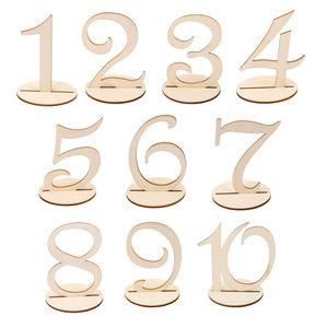 Holz Tischnummern Holz Zahlen für Hochzeit Party Tischdeko