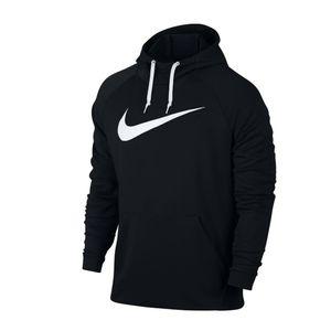 Nike Kapuzenpullover Dry Herren Hoodie PO Swoosh 885818 , Größe:M, Farbe:Schwarz