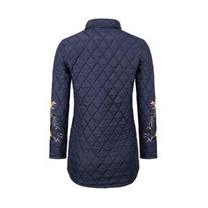 Frauen Pullover Mantel Winter Warme Wolle Reißverschluss Mantel Baumwolle Mantel Outwear Größe:XL,Farbe:Navy