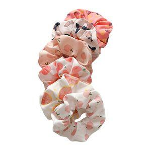 Scrunchies für Haare, süße Scrunchies Frauen Haargummis Elastische Haarbänder Scrunchy Haargummis Seile Scrunchie Chiffon Haargummis - 6 STÜCKE Rosa Farbe 6 STÜCKE Rosa