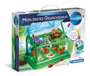 Clementoni 69490 Mein erstes Gewächshaus für Kinder mit vielen Gartengeräten