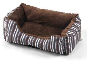 Kuscheliges Hundebett Katzenbett mit Streifen Hundekorb Katzenkörbchen Tierbett