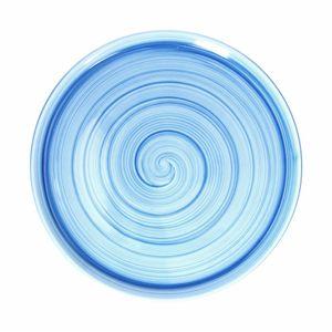 Pizzateller Cinzia Giotto aus Porzellan, rund, blau, 33 cm Ø