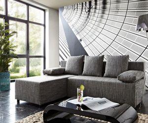 DELIFE Couch Janelle Grau 200x155 mit Schlaffunktion Ottomane variabel Ecksofa