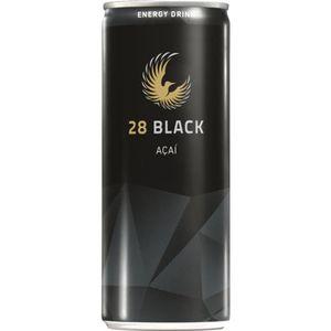 28 Black Açai Energy Drink Schwarze Dose 0,25l