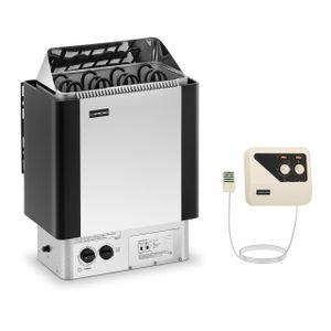 Uniprodo Set Saunaofen mit externer Steuerung - 6 kW - 30 bis 110 °C