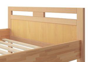 Massivholz Seniorenbett Buche natur 120x200 Einzelbett Hohes Bett mit Rollrost 60.74-12