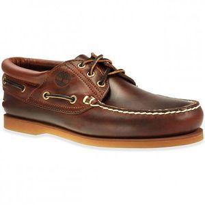 Timberland 76015 Ek Earthkeeper Classic 3 Eye Boat Sneaker Bootsschuhe Mokassin Dunkelbraun, Schuhgröße:Eur 44.5