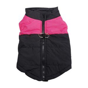 Wasserdichte hund daunen weste jacke winter jacke pullover warm für kleine mittlere große hunde Farbe Pink_S