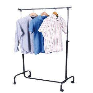 XXL Kleiderständer fahrbar mit 1 Stange 80 x 44 x 170cm