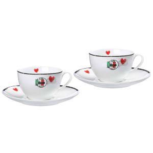 Ritzenhoff & Breker Cappuccinoset Caffe Amore 4-teilig