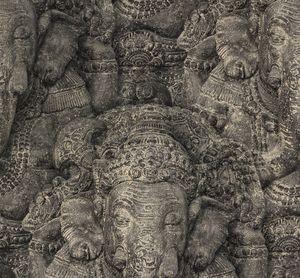 Rasch Tapete Crispy Paper schwarz Ganesha 525502