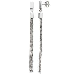 Ohrhänger lang mit Ketten 925 Sterling Silber Ohrringe