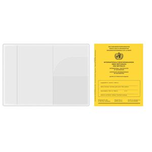 3 x Schutzhülle für Impfpass / Impfausweis / Impfbuch - Ausweishülle für Impf- und Reisepass - Notfallausweis - reiß- und wasserfest - 93 x 130 mm - transparent
