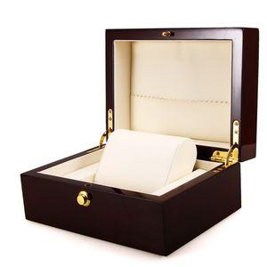 Luxus Uhrenbox Handgefertigt Damen Herren Uhren Schmuck Aufbewahrungshalter Uhrenkoffer für 1 Uhren