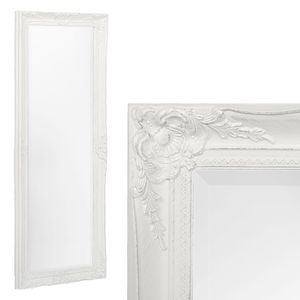 Spiegel HOUSE barock Weiß-Silber ca. 132x52cm