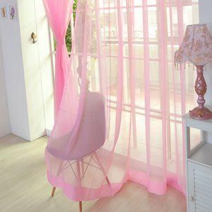 1 PCS Pure Color Tüll Tür Fenster Vorhang Vorhang Panel Sheer Schal Volants