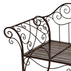 Eisen Gartenbank Antik Design Braun