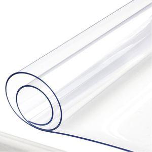 Tischdecke Tischfolie Schutzfolie Tischschutz Folie 1,5 mm 1A Qualität Lebensmittelecht ( Transparent, 70 x 70 cm )