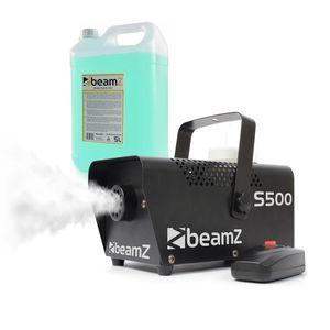 beamZ S500 Nebelmaschine mit 250 ml Nebelfluid ,500 Watt ,Ausstoßvolumen:  50m³/min ,Tankvolumen: 250 ml ,inkl. 5 Litern Nebelfluid ,Aufheizzeit: 3 Minuten ,Ausstoß-Reichweite: ca. 3 m ,Kabelfernbedienung mit 3 m Länge ,schwarz