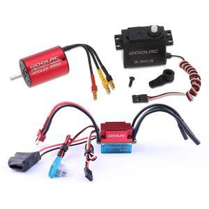 GoolRC S2838 4500KV Brushless Motor 35A ESC 3.5kg Servo Combo Set fš¹r 1/12 1/14 RC Car