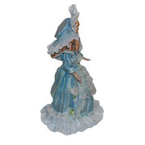 40cm viktorianisches Porzellan weibliche Puppe Figur im hellblauen Kleid Home Decor