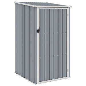 vidaXL Gerätehaus Grau 87x98x159 cm Verzinkter Stahl