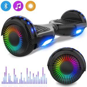 Hoverboard 6,5-Zoll-Selbstausgleichsroller mit Bluetooth-LED-Blitz-Elektroroller mit leistungsstarkem blinkenden Gyropodenmotor Neues Modell Spielzeug und Geschenk für Kinder