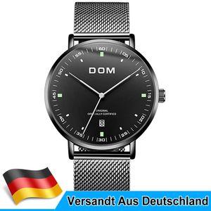 Herren Uhren Edelstahl Automatik Wasserdicht Dress Watch Uhren Armbanduhren Schwarz