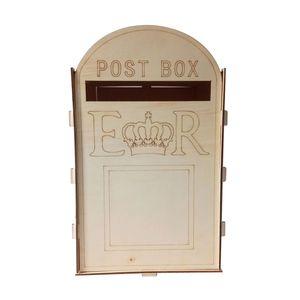 Hochzeit Holz Box Hochzeitskarte Exquisite mit Schloss 2019 Royal Mail Style Retro