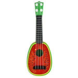 1pc Kinder lernen Gitarre Ukulele Mini Obst kann Musikinstrumente spielen Spielzeug