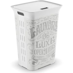KIS Laundry de Luxe Chic Style - 60 l - Grau und Weiß