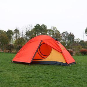 Abtel Campingzelte Einzelnes Campingzelt wasserdichte ultraleichte Doppelschicht,Rot