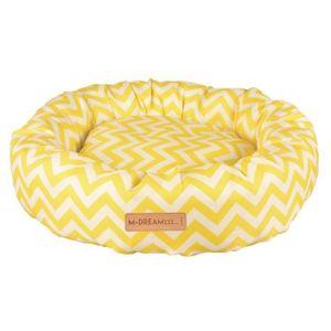 katzenkissen Tasmania 55 cm Textil gelb/weiß