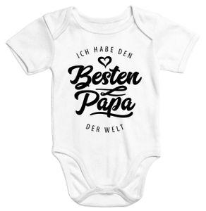 Kurzarm Baby Body Ich habe den besten Papa der Welt Spruch Geschenk Baumwolle Moonworks®  0-3 Monate