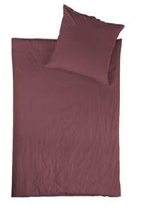jilda-tex Linon Bettwäsche 100% Baumwolle 135x200 cm mit Reißverschluss (Riga - Beere)