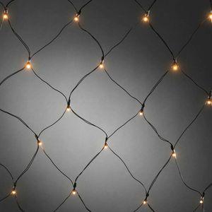 netzgeführte Außenbeleuchtung 80 x 80 cm schwarz 40 Leuchten