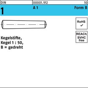 DIVERSE Kegelstift DIN 1 FormB B 10x 60 A1 gedreht 1 Stück