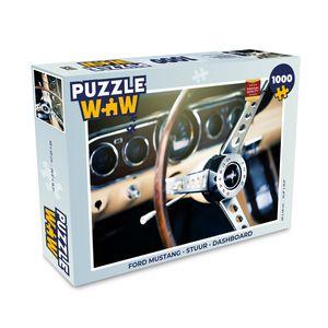 Puzzle 1000 Teile - Ford Mustang - Lenkrad - Armaturenbrett