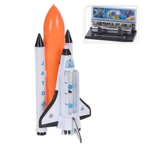 Free and Easy Space Shuttle Druckguss mit Licht 20 cm weiß