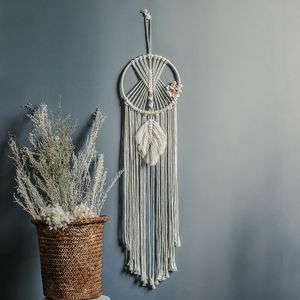 Traumfänger im Boho-Stil Dream Catcher im Vintage-Stil Makramee Wandbehang Baumwolle Makramee Tapisserie Quaste