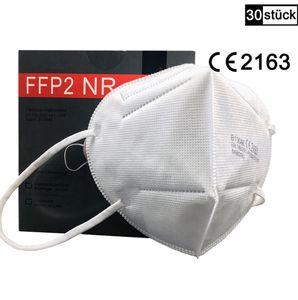 30 Stück einzeln verpackte FFP2  Mundschutzmaske /   Mund-Nasenschutz Masken Atemschutzmaske