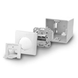ARLI Cat6a Netzwerkdose 2 Port ( Auf + Unterputz )