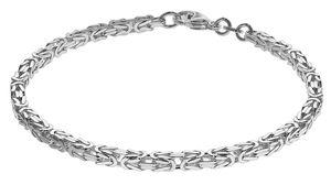 trendor 75236 Armband Königskette Sterlingsilber 925 Stärke 3,2 mm, 21 cm