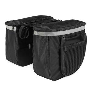 20L 600D Polyster Wasserdichte Doppelreißverschluss Fahrrad Rücksitz Hecktasche Fahrrad Fahrrad Packtasche Outdoor Racks Tasche Fahrrad Tasche -Black
