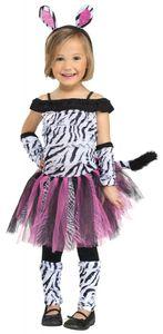 Mädchen Kostüm - Zebra Fuzzy, Größe:104 - 3 bis 4 Jahre